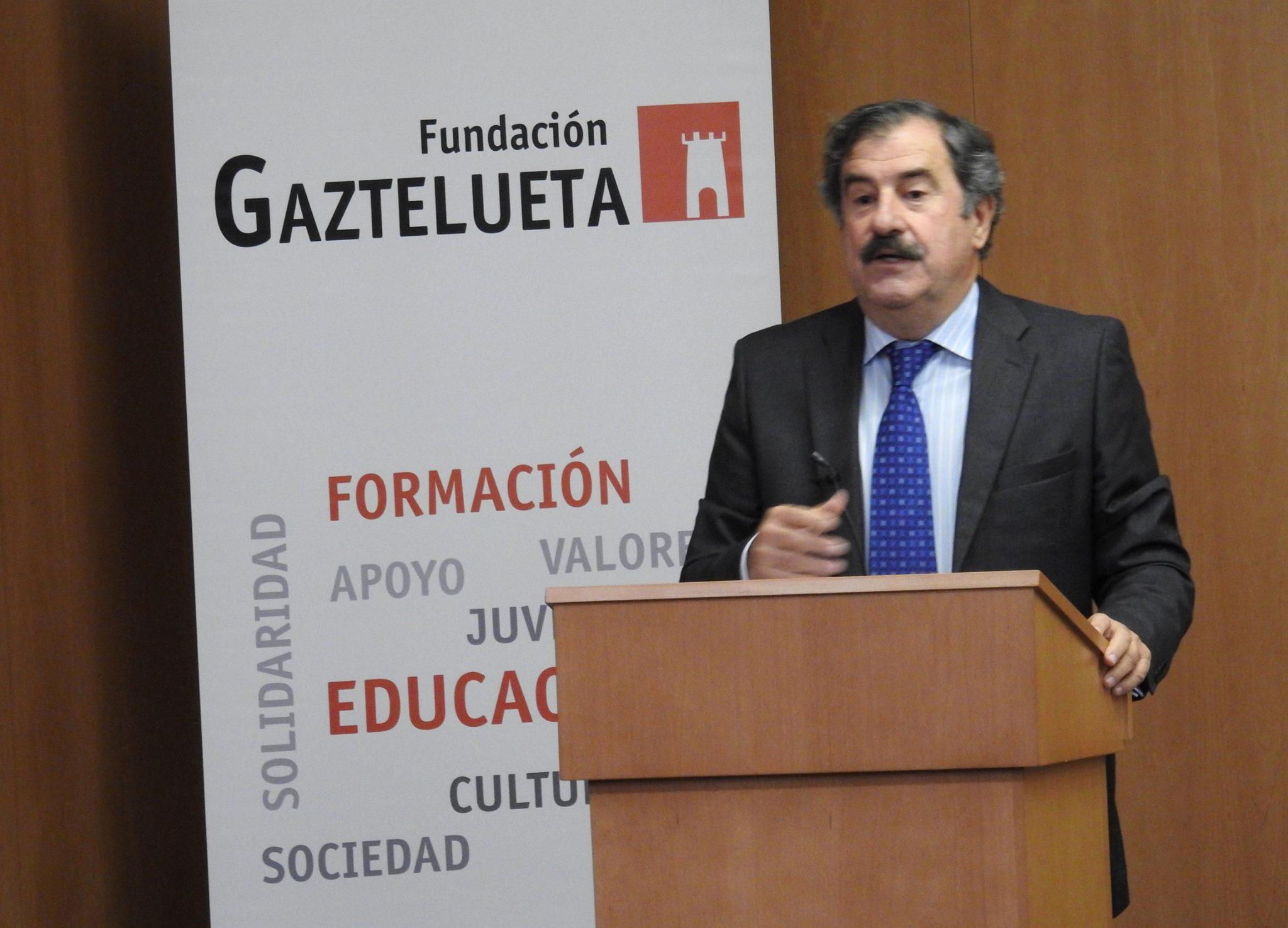 Ignacio Marco Gardoqui en el acto de la Fundación Gaztelueta 2017/18